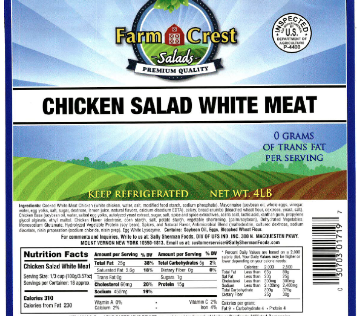 Listeria potentially linked to chicken salad in eastern states