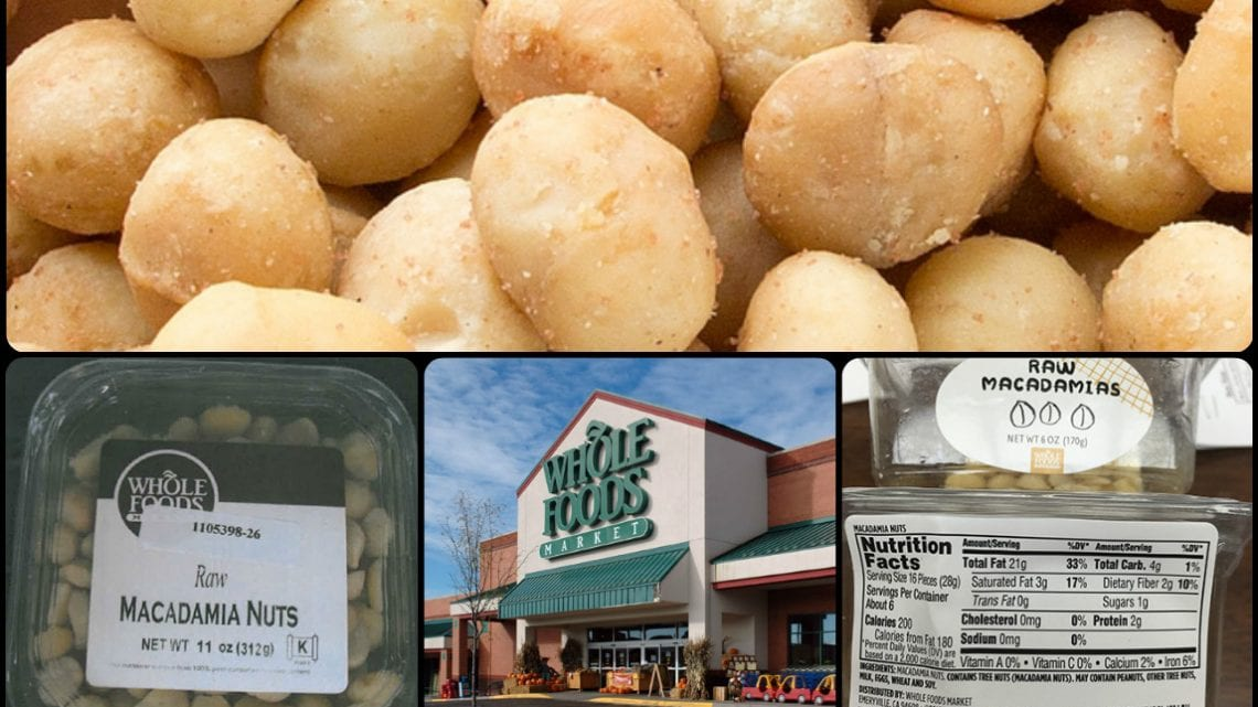 Whole Foods Macadamia Salmonella Recall