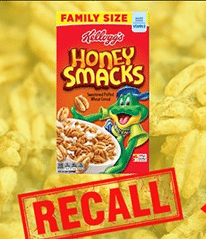 Lawyer files Kellogg's Honey Smacks Lawsuit First Lawsuit Filed Kellogg Honey Smack Salmonella Outbreak