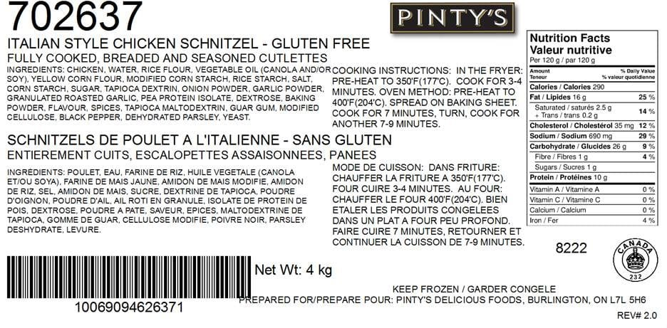 Updated Food Recall Warning Listeria Monocytogenes Pintys Brand