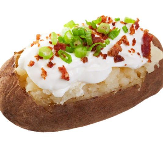 Safe handling of a baked potato