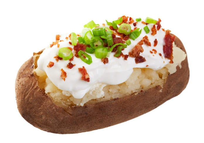 Safe handling of a baked potato