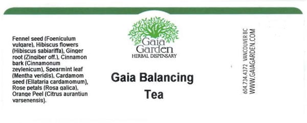 Food Recall Warning (Salmonella) - Gaia Balancing Tea - Food